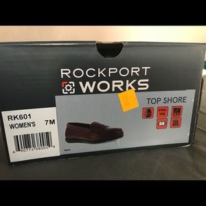 8c73c53582f Rockport Shoes - Rockport Works Women s Sz7 Steel Toe Penny Loafers